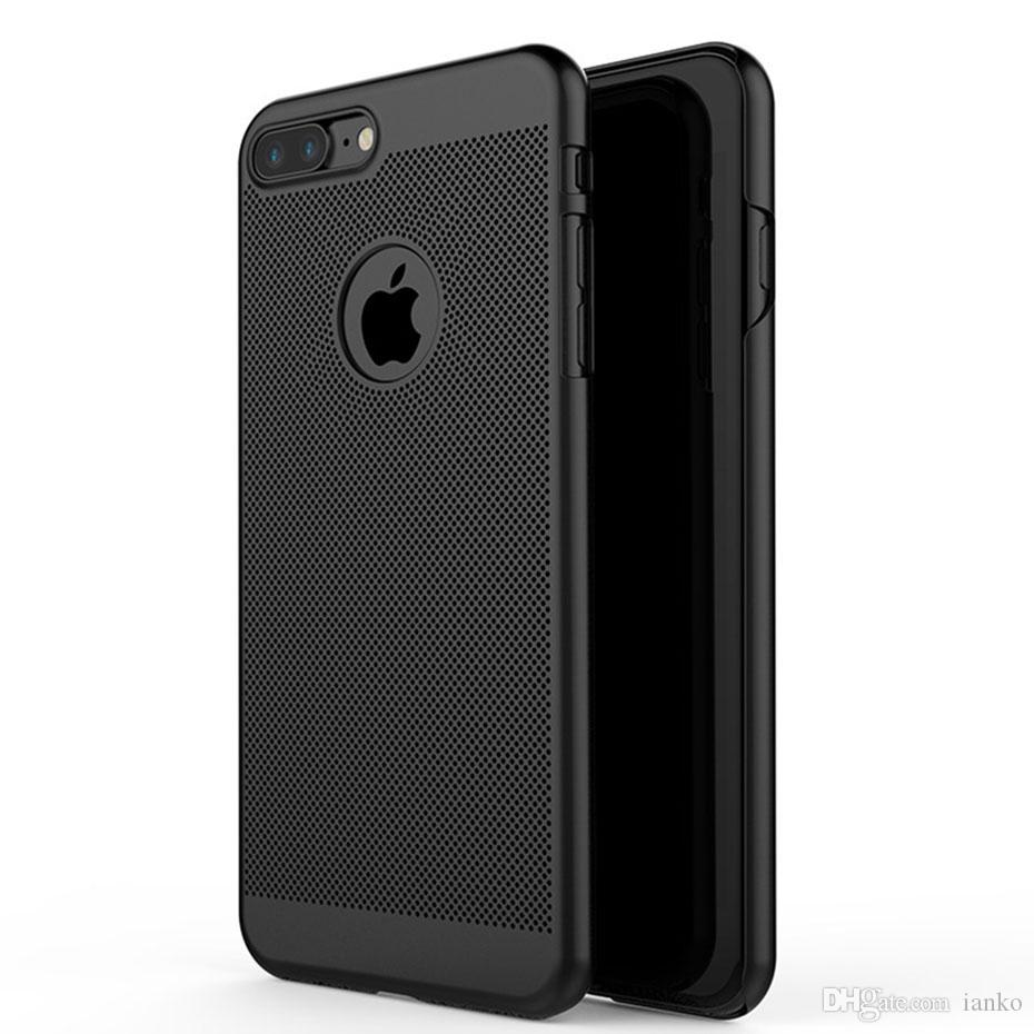For iPhone Xr Xs Max Bumper Heat Dissipation Case With Mesh Hard PC Back Cover Honeycomb Cooling Case For iPhone X 8-7-6 Plus