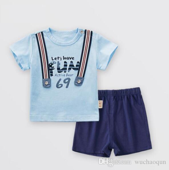 Compre 2018 Ropa De Verano Para Niños Ropa De Bebé De Algodón De Moda Para  Hombre Pantalones De Bebé De 1 3 Años De Edad 31b28b7b9dc