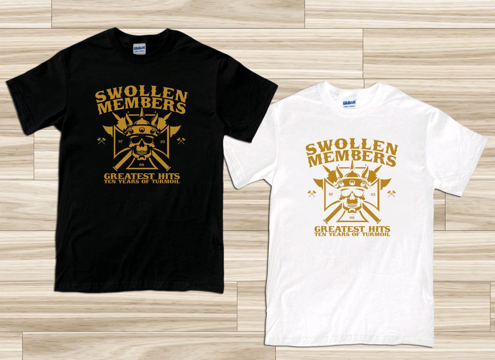 d6fa33a9e768 Swollen Members Greatest Hits Rap Hip Hop Men S Black White T Shirt Size S  3XL Top T Shirt Jersey Print T Shirt T Shirts Shop Online Of T Shirts From  Vascup ...