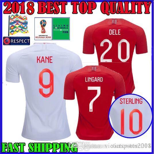 92f4bea673 Compre QUALIDADE SUPERIOR Inglaterra 2018 Copa Do Mundo De Futebol Camisa  De Distância 18 19 Liga Nacional Kane Dele Esterlina RASHFORD VARDY FUTEBOL  ...