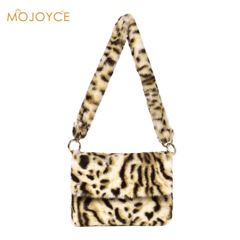 609f59457fb9 Fashion Faux Fur Women Messenger Bag Luxury Winter Leopard Shoulder Bag  Casual Female Crossbody Bags Bolsa Feminina 2018 Women Messenger Bag Leopard  ...