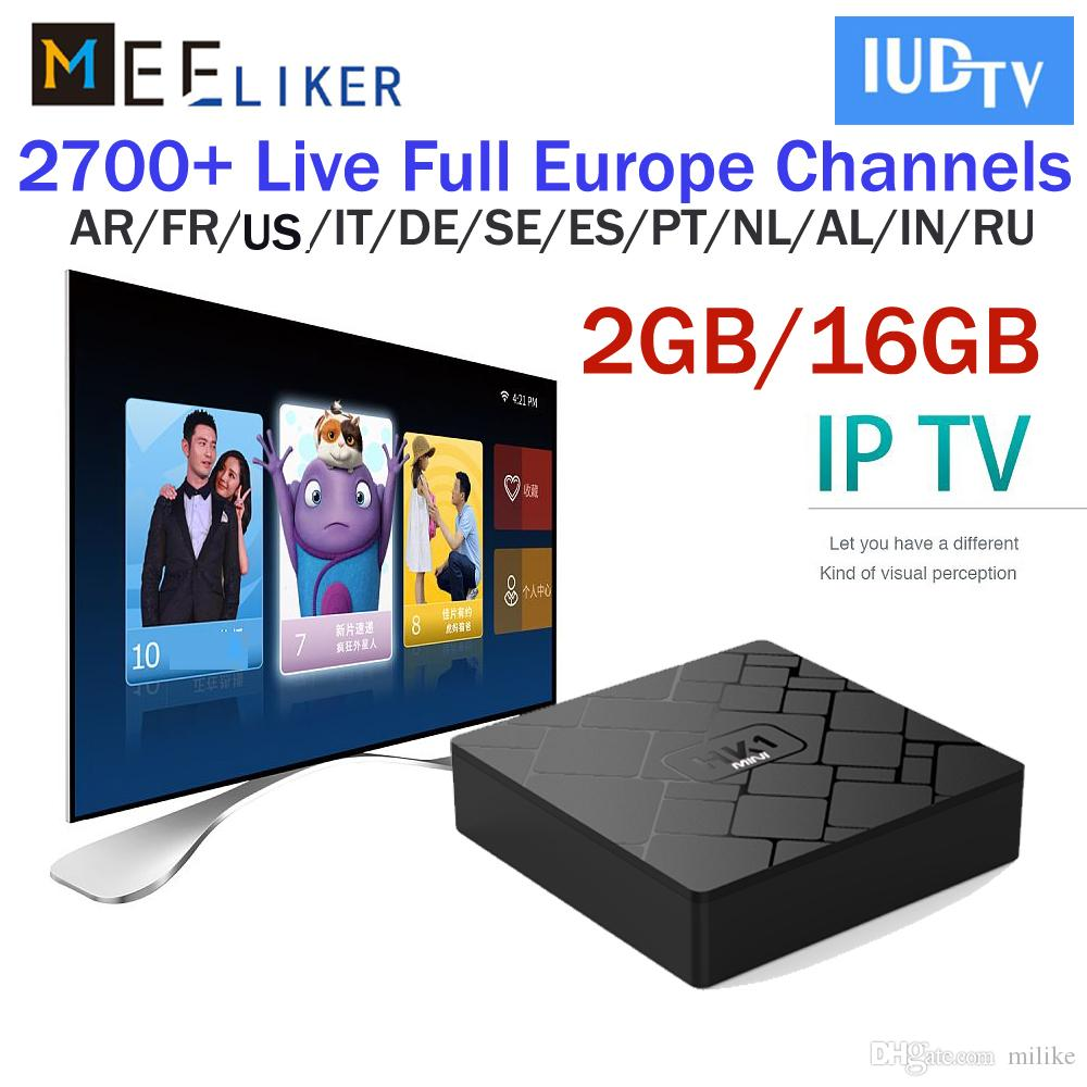 2GB 16GB HK1 mini android 8 0 tv box 3 6 12 Months 2800 IUDTV streaming  iptv european subscription arabic french support m3u MAG