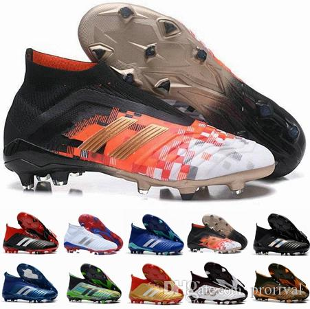 2018 Nuevo Predator 18 FG PP Paul Pogba Botines de fútbol Slip On Chaussures De Football Boots Predator para hombre 18 Zapatos de fútbol superiores
