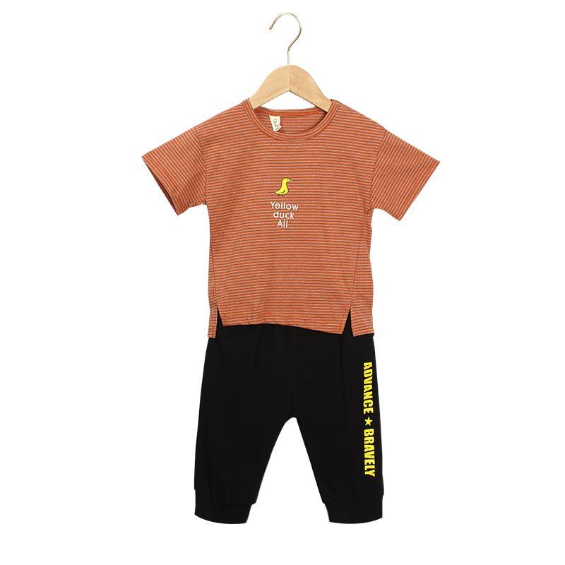 9bc27be19 traje de ropa infantil, 2019 nuevo estilo bebé y dibujos animados de moda  de verano juego de ropa deportiva de Brother