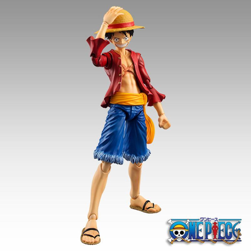 Anime One Piece Luffy Figure BJD Joints Moveable PVC Action Collection Model Toys 18cm