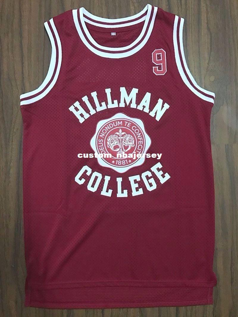 ee15ce604aa6 2019 Cheap Custom Dwayne Wayne 9 Hillman College Theater Basketball Jersey  Red Stitched Customize Any Number Name MEN WOMEN YOUTH XS 5XL From ...