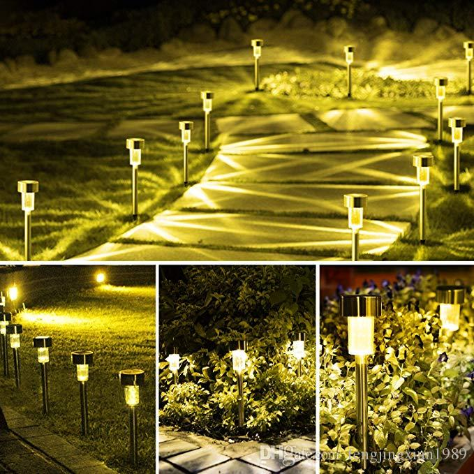 Exceptionnel Outdoor Solar Lights Solar Pathway Lights Garden Lights Landscape Lighting  For Lawn Patio Stainless Steel Warm White Solar Patio Lights Outdoor Led  Lights ...