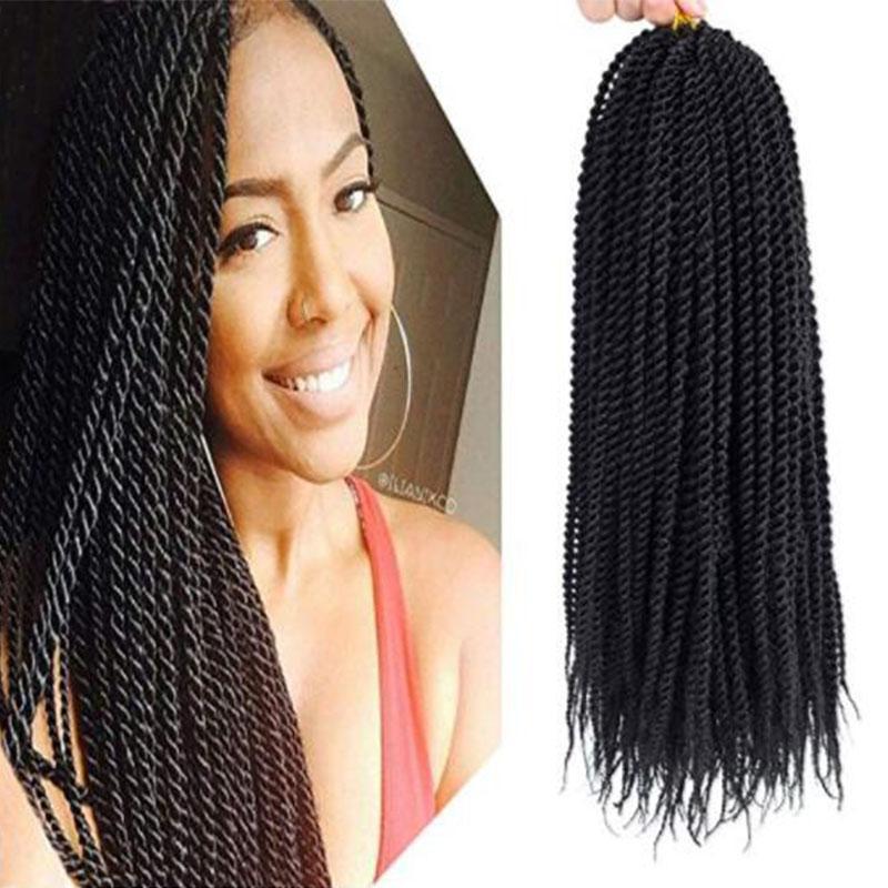 2019 Hot 3x Box Braid Crochet Braids Hair Extensions Synthetic