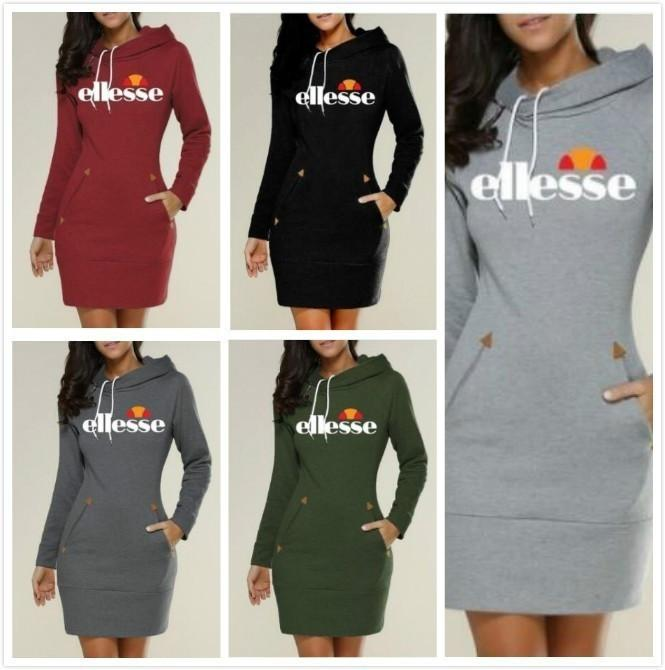 95863c51 Slim Type Dress Popular Hoodie Ellesse Hooded High Collar Women Long Sleeve  Sweater
