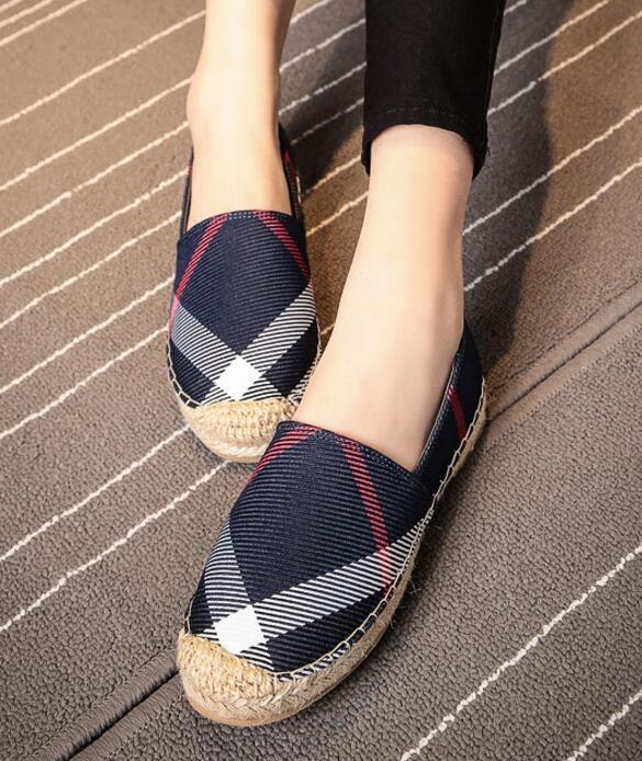 998ba1a567ce Zapatos casuales de mujer marca de moda de verano y otoño zapatos de lona  transpirables sin cordones zapatos de mujer alpargatas planas