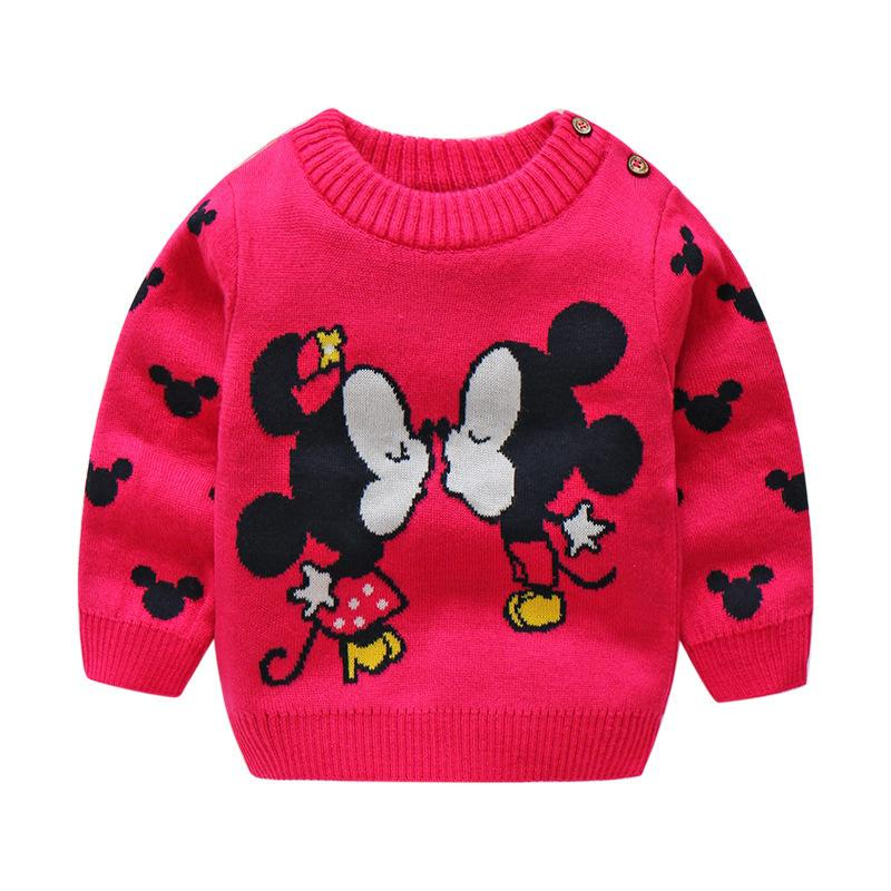 03ac19d28c1a9 BibiCola 2018 Stylish Winter Baby Sweaters For Kid Boys Girls Winter Cute  Cartoon Cotton Sweater Children Warm Thick Sweater Free Knit Patterns For  ...