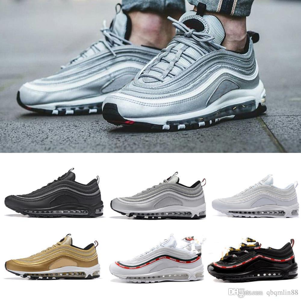 Running Shoes s OG Gold Silver Bullet Triple White Black Mens womens  Trainer Sports Sneakers Size 36-46