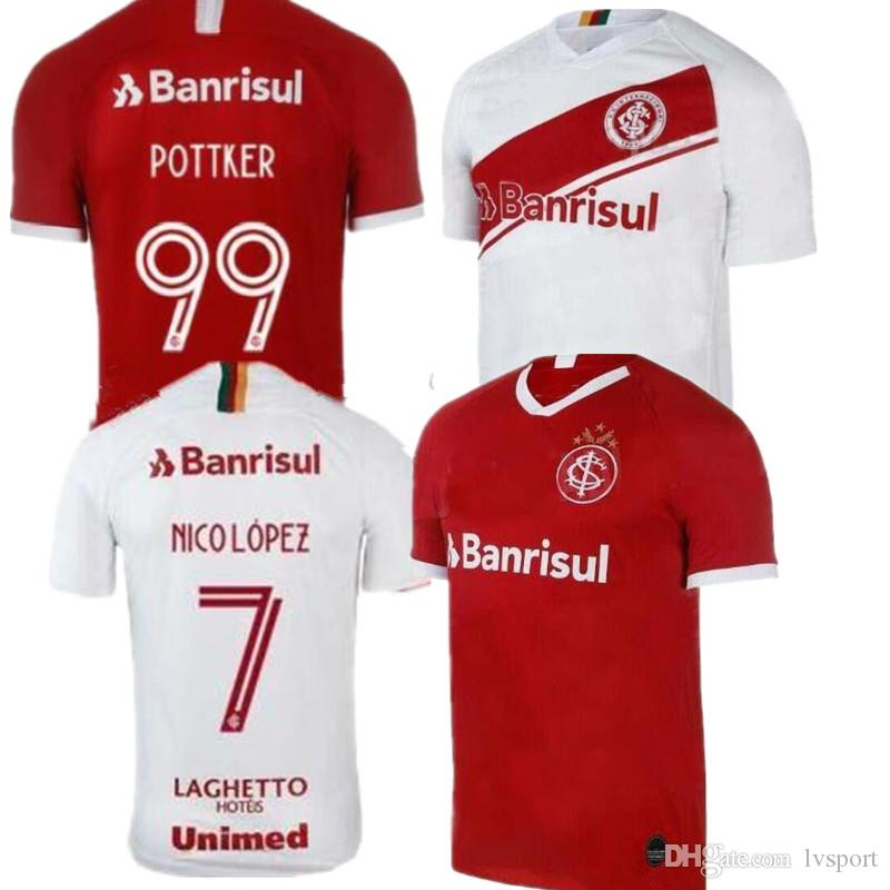07d7d4044fe 2019 New 19 20 Brazil CLUB Sport Internacional Soccer Jersey RED HOME 2019  2020 Away Football Shirt WOMAN N. LOPEZ D.ALESSANDRO POTTKER From Lvsport