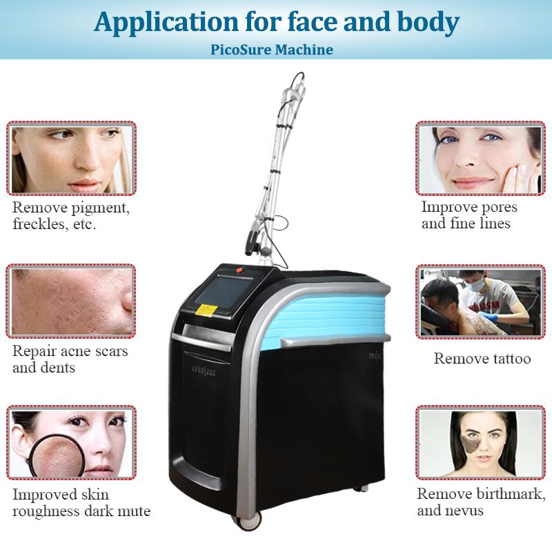 2020 professional Laser Picosure Tattoo Removal Picosecond Q-switch ND Yag Laser 1064nm 532nm 755nm 1320nm Picosecond Scar Spot removal
