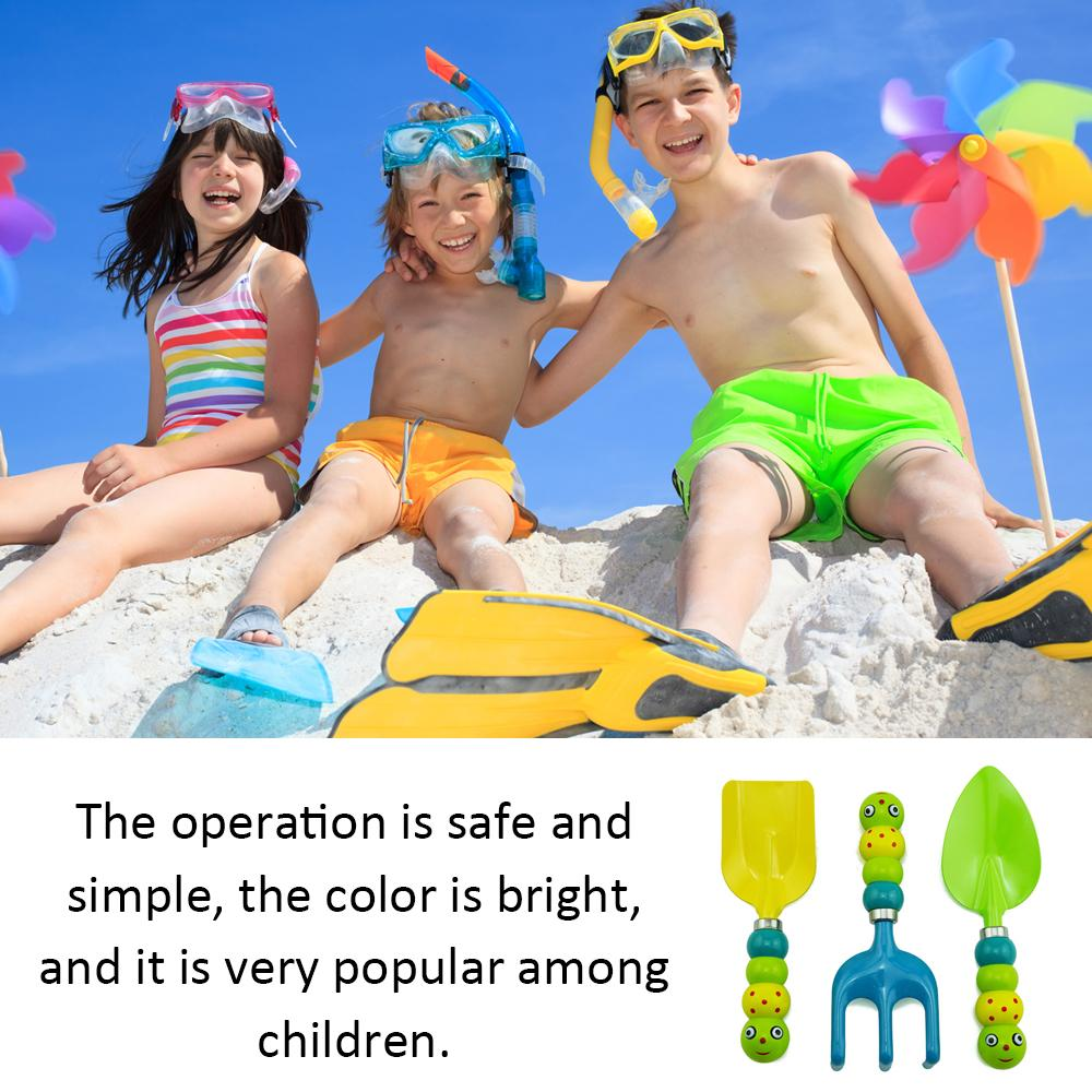 3 pcs Crianças Crianças Mini Jardim Conjunto de Ferramentas Espátula Ancinho Pá Ferramentas de Jardinagem Simples Apropriado para a Praia Jardim Ao Ar Livre