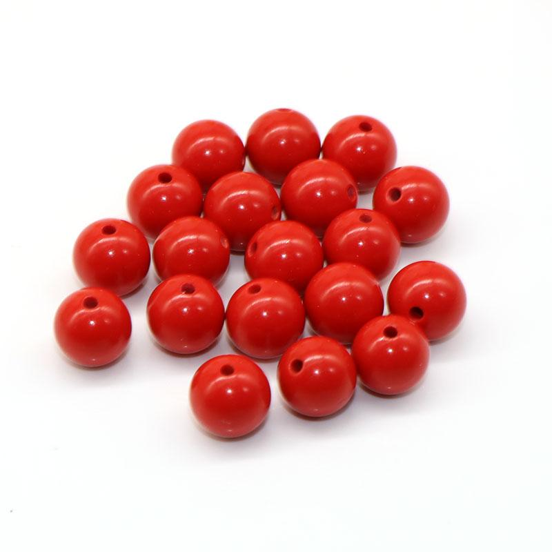 8mm 50pcs Mixed Loose Beads Coral Red Stone Spacer beads Handwork Coral Stone Charm for DIY Bracelets Jewelry Making
