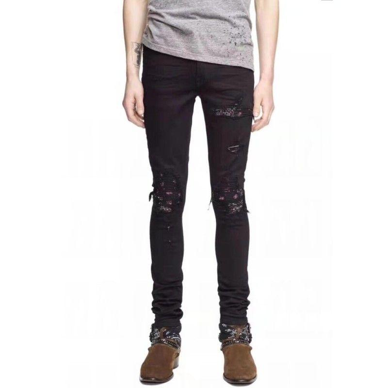 7b728b78213a11 2019 Hot Sale Mens Designer Ripped Skinny Straight Slim Elastic Men Denim  Fit Biker Jeans Pants Long Pants Stylish Straight Slim Fit Jeans From  Zsz1111, ...