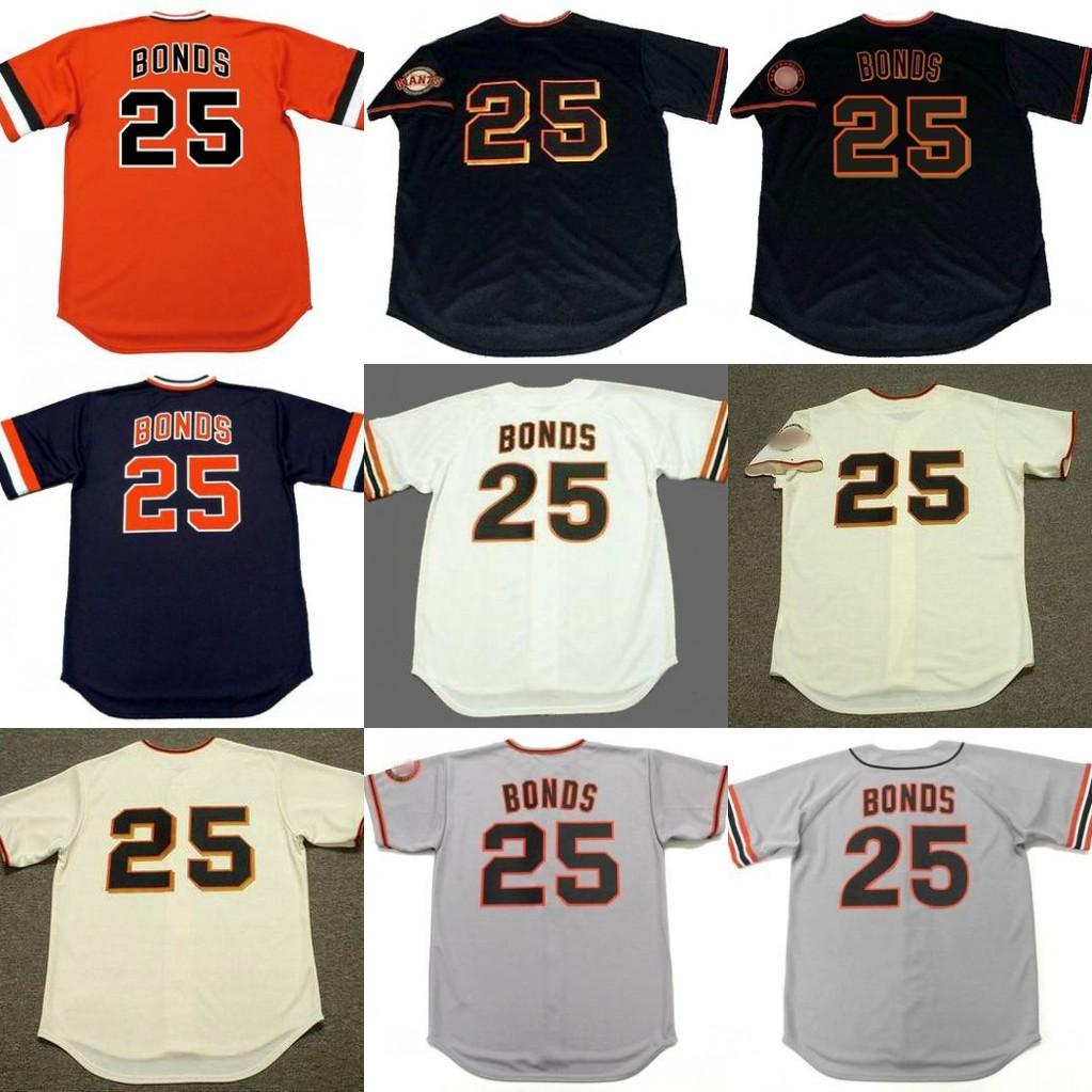 b197c4871fd 2019 Men 25 BARRY BONDS San Francisco 19783 Baseball Jersey From  Trade 2018