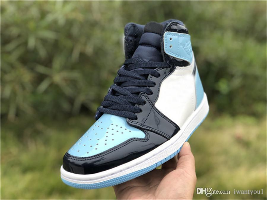 buy popular 5ea2a 76769 2019 2019 Top Authentic Air High OG 1 Retro UNC Patent Basketball Shoes  Snekaers WMNS ASG Obsidian Blue Chill White CD0461 401 With Box 36 46 From  Iwantyou1 ...