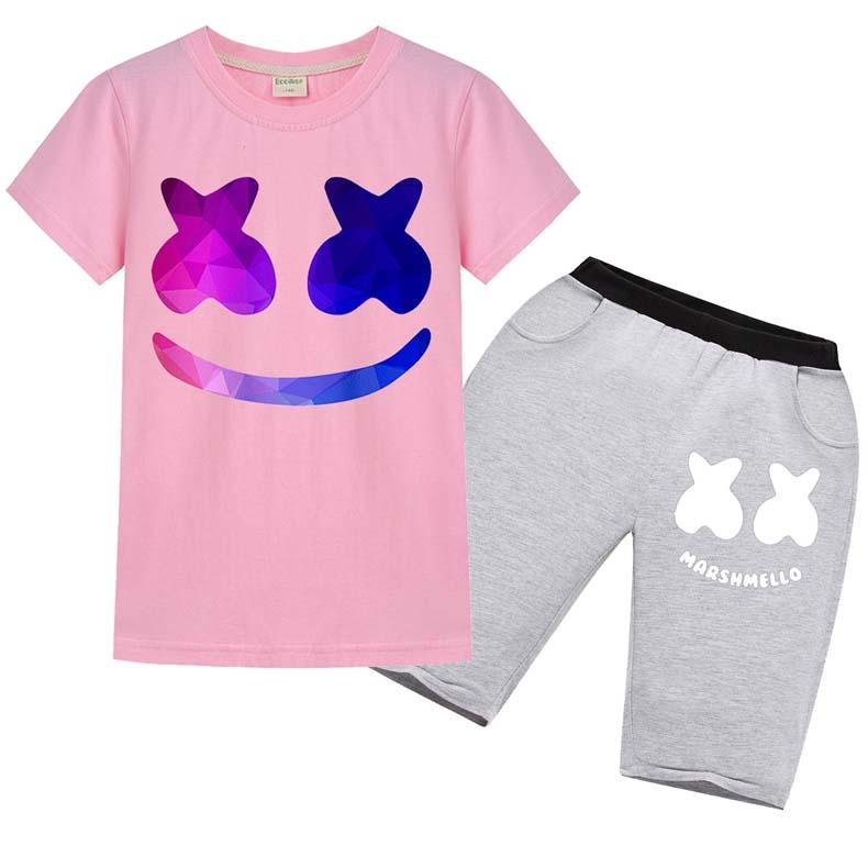 2pcs Brand Luxury Kids Clothing Sets Summer Baby boy Clothes Cartoon Print for Boys Outfits Toddler Fashion T-shirt Shorts Children Suits