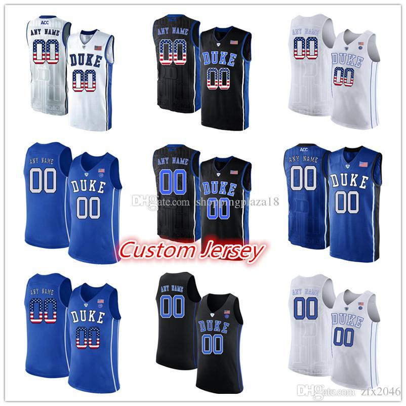 db1387f00 Men s 1 Zion Williamson 0 Jayson Tatum 3 Garyson Allen NCAA College Duke  Blue Devils Replica Basketball custom Jerseys National Flag Ve