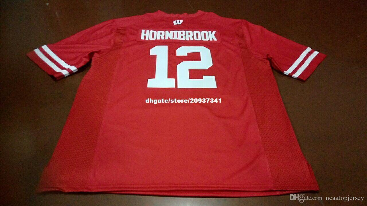 new concept fcd1e ded17 Cheap Men Top high quality #12 Alex Hornibrook Wisconsin Badgers Alumni  College Jersey XS-6XL or custom any name or number jersey