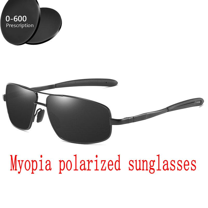 712ec58534 Men Women Polarized Sunglasses Custom Made Myopia Minus Prescription Lens -1  .0 to -6.0 Alloy Square Sunglasses with Box FML Sunglasses Cheap Sunglasses  Men ...
