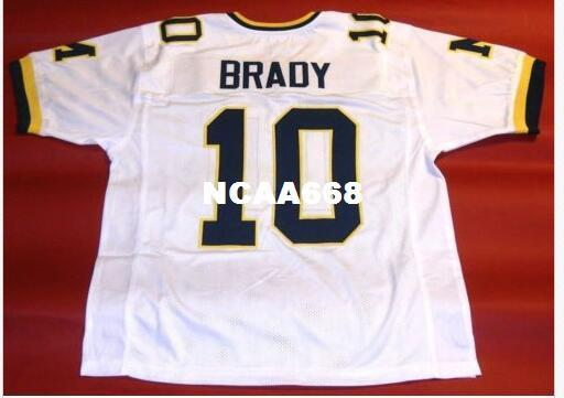 online store 8463d bdbfd Men #10 TOM BRADY CUSTOM MICHIGAN WOLVERINES RETRO College Jersey size  s-4XL or custom any name or number jersey
