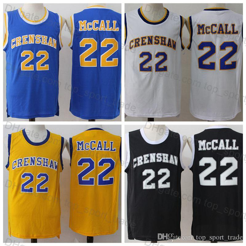 d0d1d519093 2019 Best Quality 22 Quincy McCall Jersey Crenshaw Mens High School Jersey  Classic Film Love & Basketball Quincy McCall Basketball Jerseys From ...