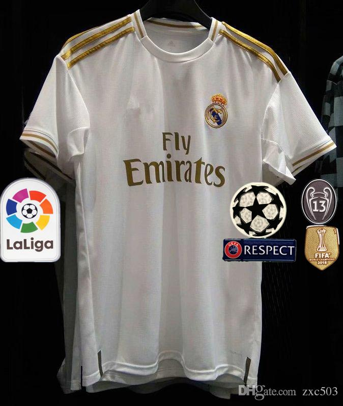 d5dd87e8c29 2019 HAZARD 2019 2020 Real Madrid Soccer Jerseys Home White Away Black  BENZEMA MODRIC BALE Third Green Football Shirt Camisetas De Futbol From  Zxc503