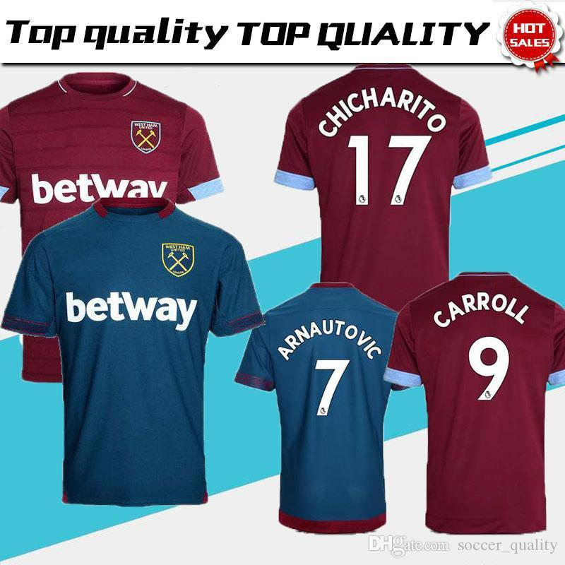c8146d02d49 ... ebay 2018 2018 2019 west ham united football jersey arnautovic lanzini  snodgrass noble chicharito ayew home