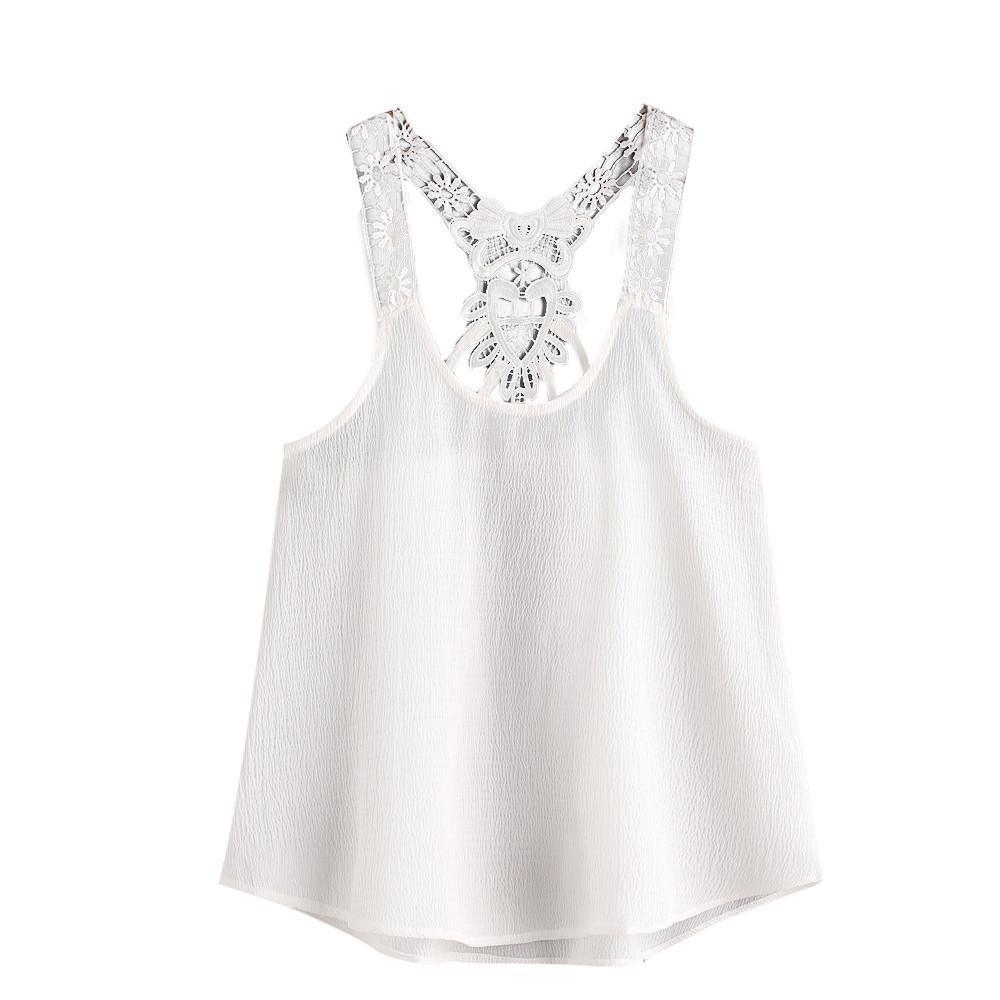001301a672 Women Lace Top Ladies Sleeveless Vest Tank Top 2019 Summer White Tops Sexy  Backless Cami Haut Femme #BF Online with $31.93/Piece on Jamie21's Store ...