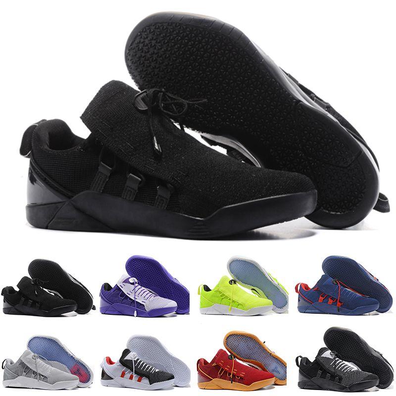 sale retailer 23ee7 c814e Acheter Basketball Shoes 2018 Nouveau Kobe A.D. NXT 360 Jaune Strike Mamba  Jour Bryant Multicolore Hommes Chaussures De Basket Ball Hommes Wolf Sports  ...