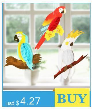 3 Eye-catching Rainbow Hanging Parrots Honeycomb Decor Kids Birthday Baby Nursery Classroom Bird Shape Evening Party Decor