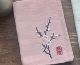 Meilan bamboo chrysanthemum retro Chinese style embroidery handkerchief  custom name go abroad birthday graduation gift Christmas