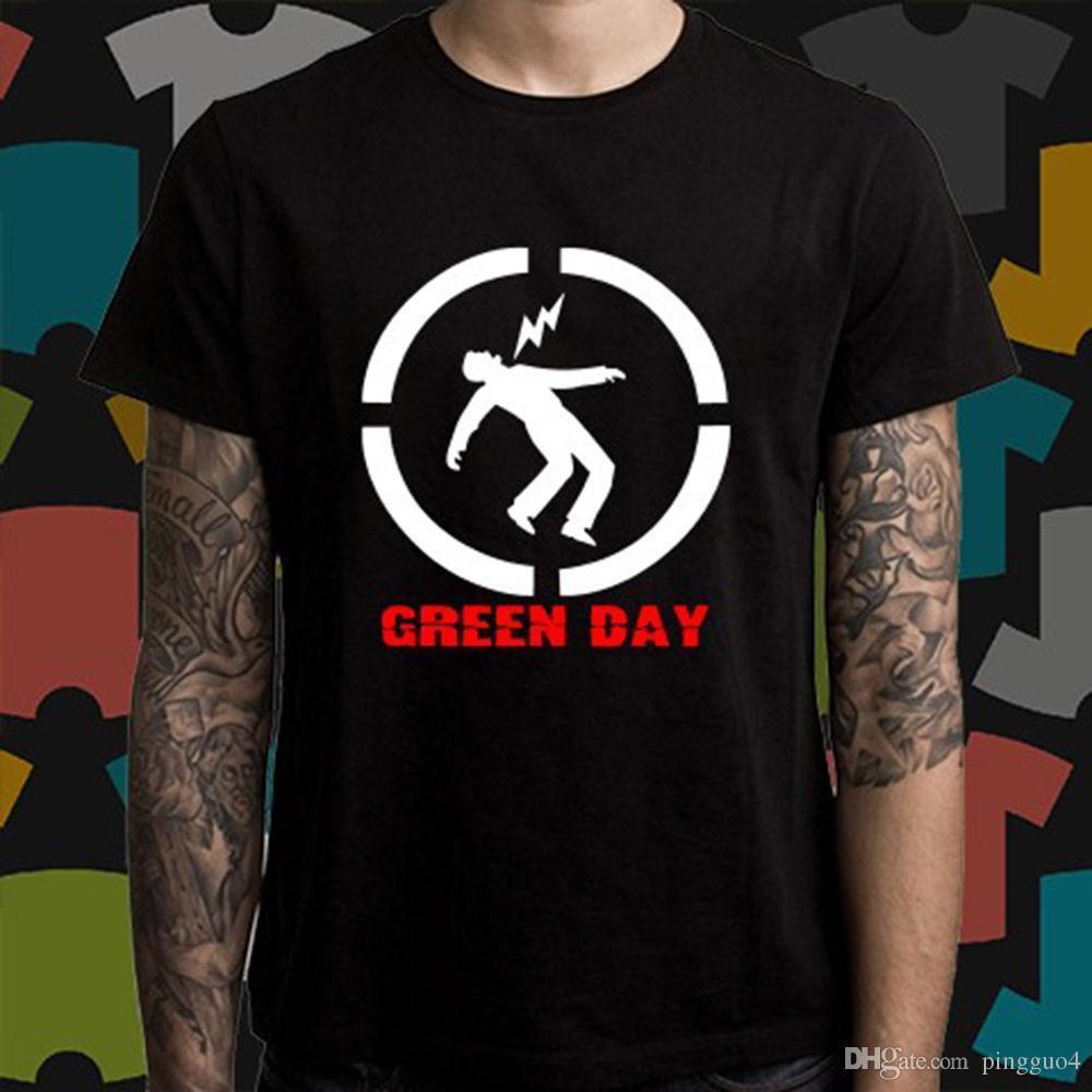 a8c5544a153 New GREEN DAY Punk Rock Band Logo Men S Black T Shirt Size S To 3XL Short  Sleeve T Shirt Print Round Neck Man T Shirt Logos Trendy T Shirts From  Lijian72