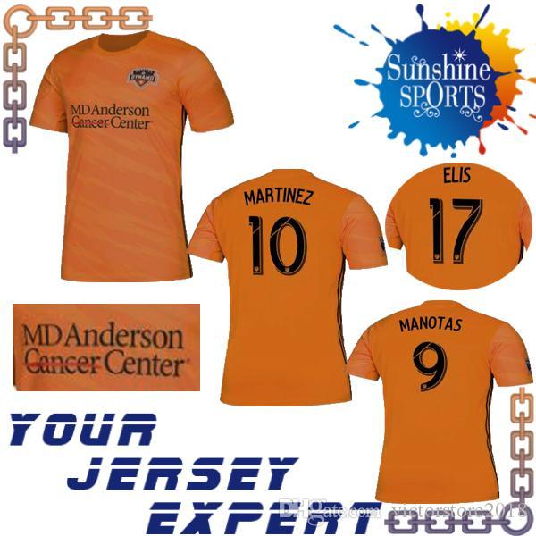 best sneakers 94896 0c6ae new Houston Dynamo 19 20 soccer Jersey Home Orange 31 QUIOTO 17 ELIS 10  MARTINEZ 9 MANOTAS 7 BEASLEY 2019 2020 Football uniform