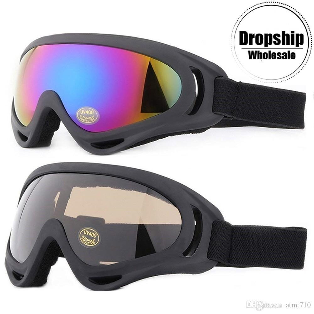 04bc3244feb7 Winter Snowboard Ski Goggles For Men Women UV400 Windproof Sunglasses Sports  CS Airsoft Glasses Skiing Snowmobile Anti Fog Lens Motorcycle Riding Glasses  ...