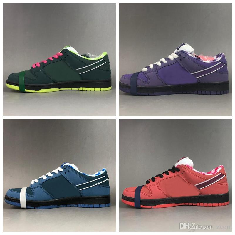 finest selection 6c9c3 70df8 2019 Designer Concepts X Sb Dunk Low Kyrie Purple Blue Red Green Lobster  Running Shoes Dunks Women Mens Trainers Authentic Sneakers With Box Sale  Shoes Men ...