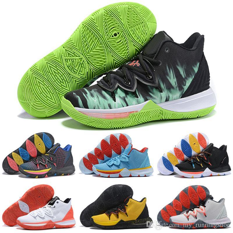 fd4d30bae78f 2019 2019 New Arrival ROKIT X Kyrie5 BHM Blue Orange Basketball Shoes For  High Quality Multicolor Mens Sports Sneakers Classic Trainers EUR 40 46 From  ...