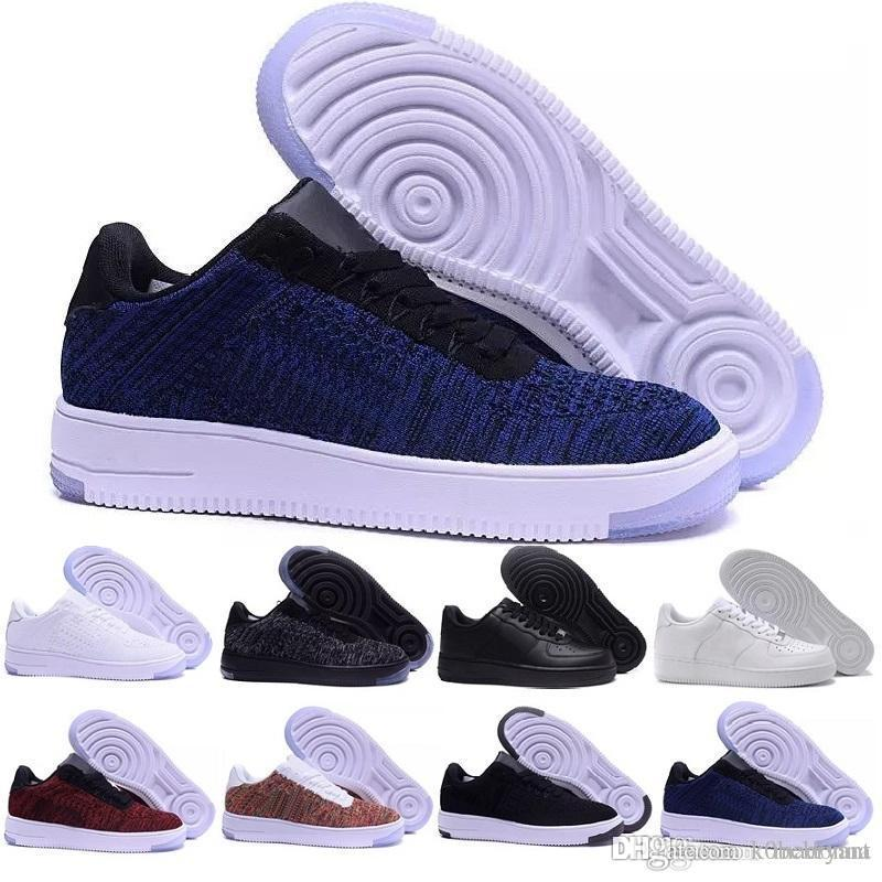 2019 fashion air one casual shoes men fly line weave breathable flat one one mesh shoes classic air casuals men's shoes