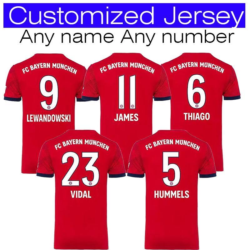 new concept cd32f 200ba bayern Munich soccer jersey JAMES RODRIGUEZ LEWANDOWSKI MULLER KIMMICH  jersey 27 ALABA 23 VIDAL 1 NEUER foot Champions