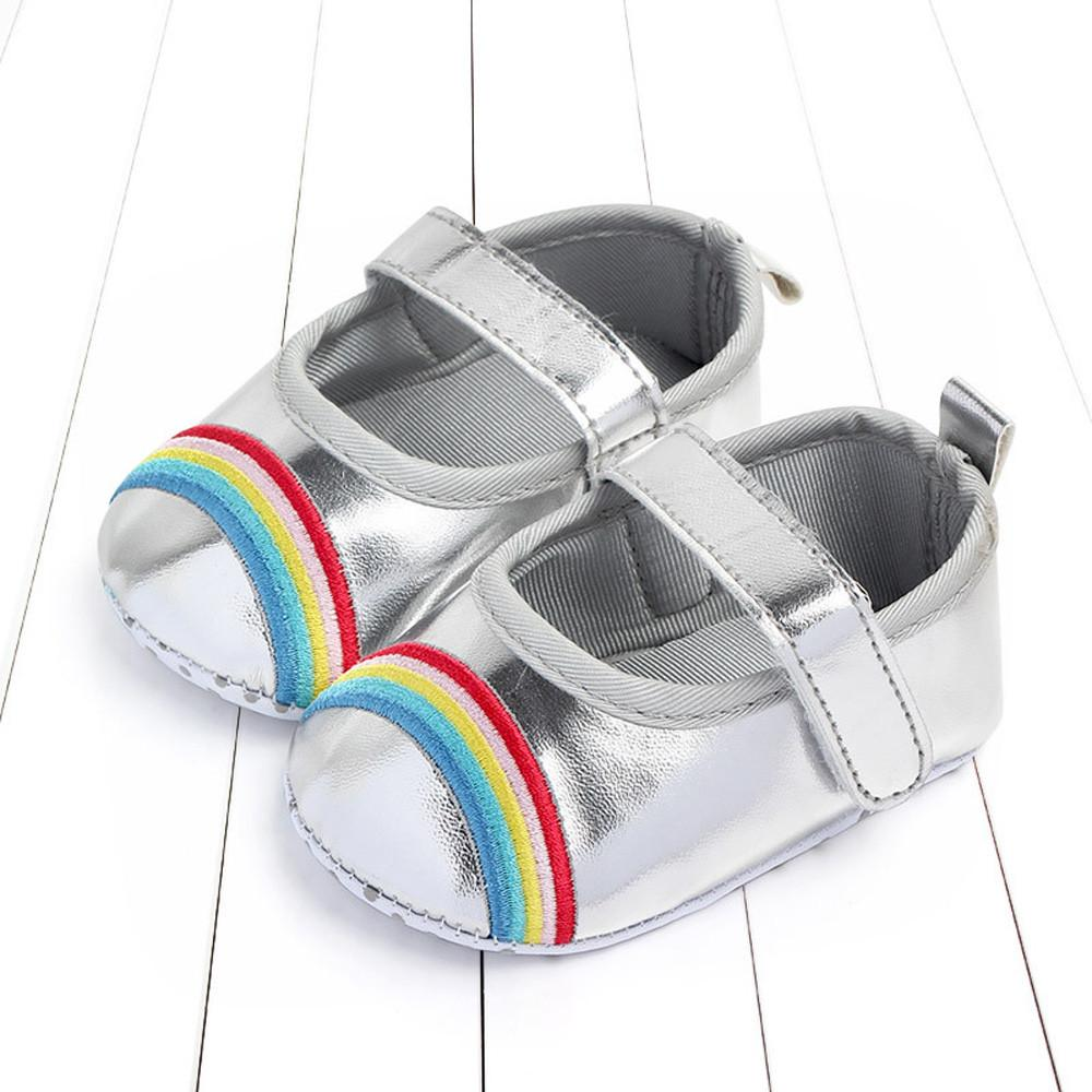 d8fffbadf93f 2019 Cute Baby Girls Newborn Infant Rainbow Bling Casual First Walker  Toddler Shoes Girls Shoes For Party And Wedding From Askkit