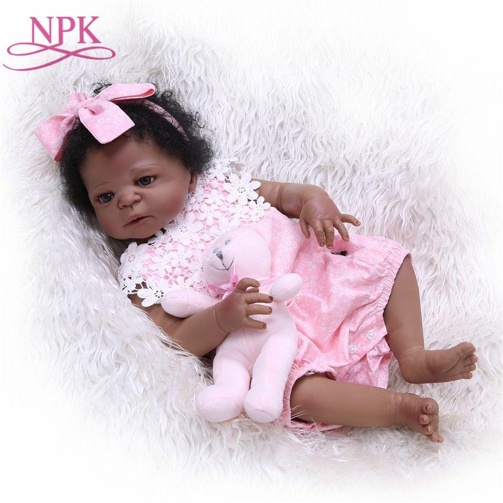 Npk 57cm Full Silicone Baby Doll Handmade Reborn Babies Lifelike Girls Toys For Kids Christmas Or Birthday Gift Dolls