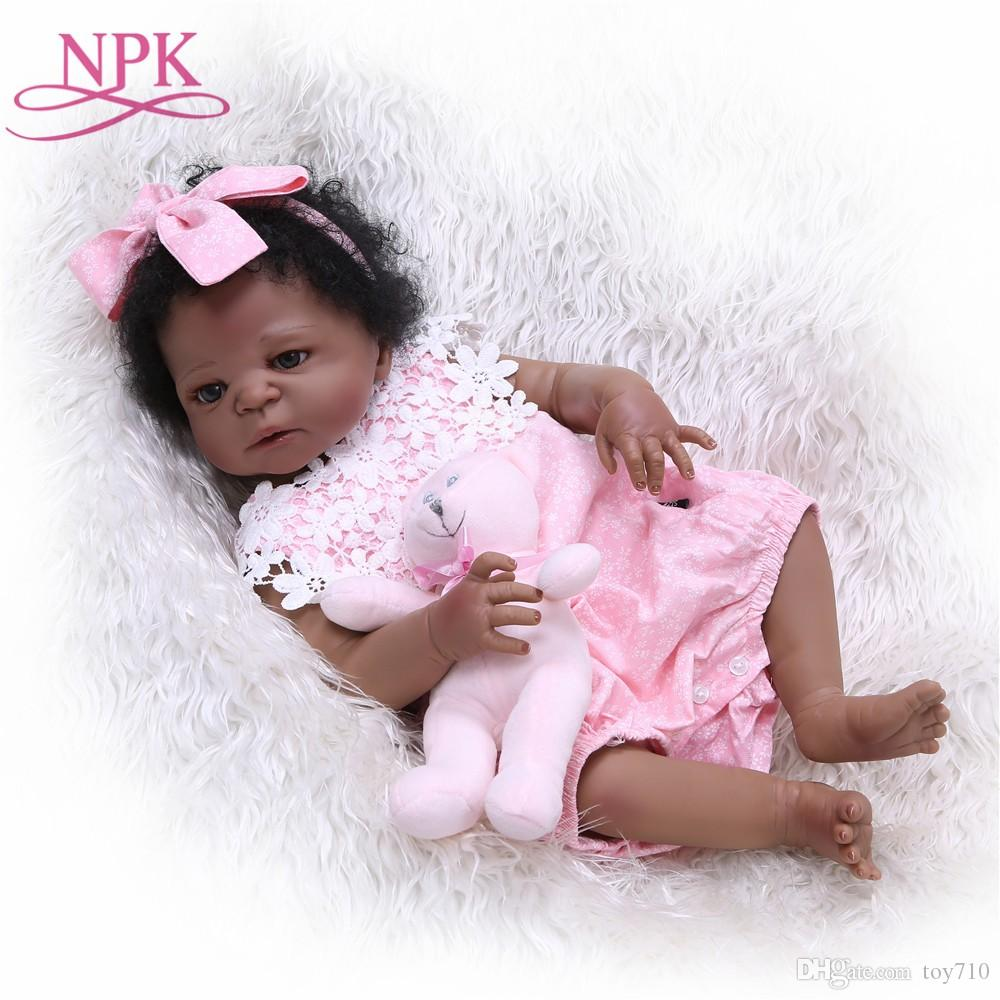 012d99e60 NPK 55cm Full Silicone Body Reborn Baby Doll Toy Like Real 22inch Newborn  Girl Princess Babies Doll Bathe Toy Kid Gift On Xmas Barbie Dolls Porcelain  Dolls ...