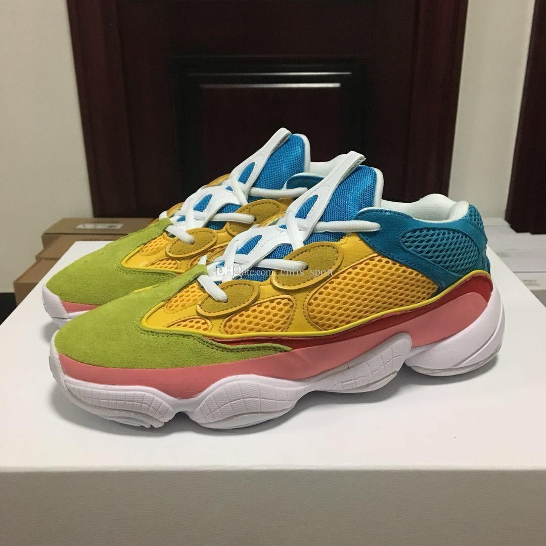 9a20164ba3 Compre Corredor De Onda Sal 500 Sapatos Sólidos Verde Amarelo Azul ...