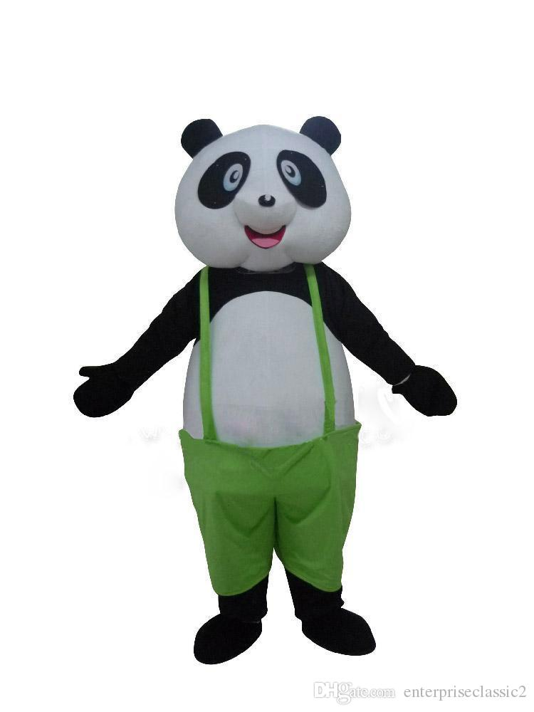 2019 Factory sale hot Adult Size Cute Panda Mascot Costume Kungfu Panda Costume Christmas Birthday Party Fancy Dress Free Shipping