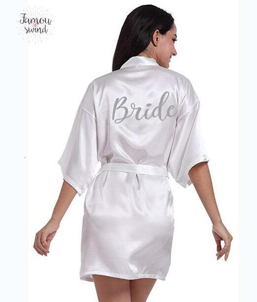 01 Pdty Name Writing Bridal Robes Bride Bridesmaid Maid Of Honor Women Party Robe Custom Silver And Date Get Robes