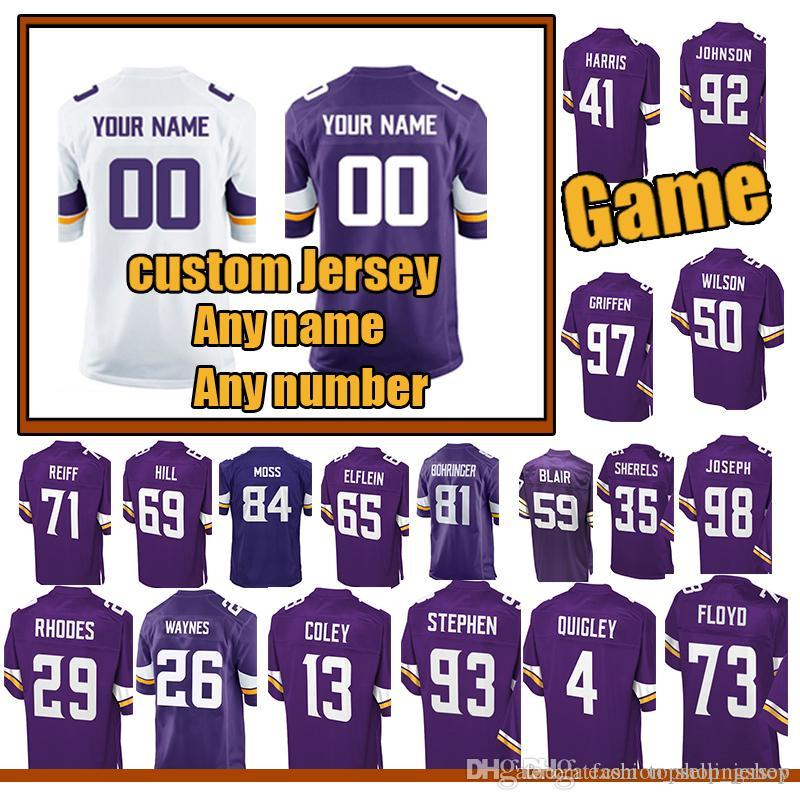 best service 06b33 1779c custom Game MINNESOTA VIKINGS jersey 22 Harrison Smith 97 Everson Griffen 4  Ryan Quigley 89 David Morgan35 Marcus Sherels jerseys