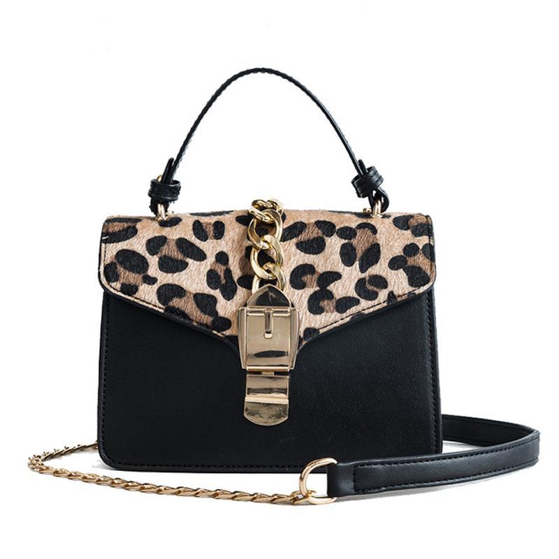 4af87f45986 Women Shoulder Bag Fashion New Lock Messenger Crossbody Bags Famous Brand  Summer Style Small Flag Leopard Print Female Chain Bag